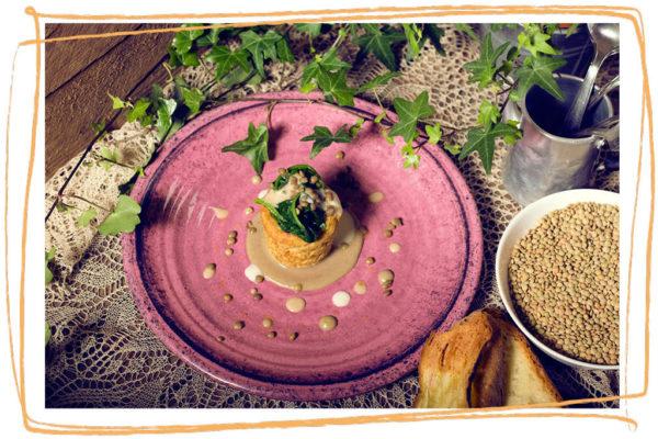 Flan di Lenticchia di Altamura I.G.P. e salsa alle alici